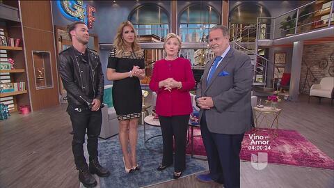 Hillary Clinton envía mensaje de unión en su visita a El Gordo y La Flaca