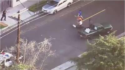 Residentes intercedieron en arresto de LAPD