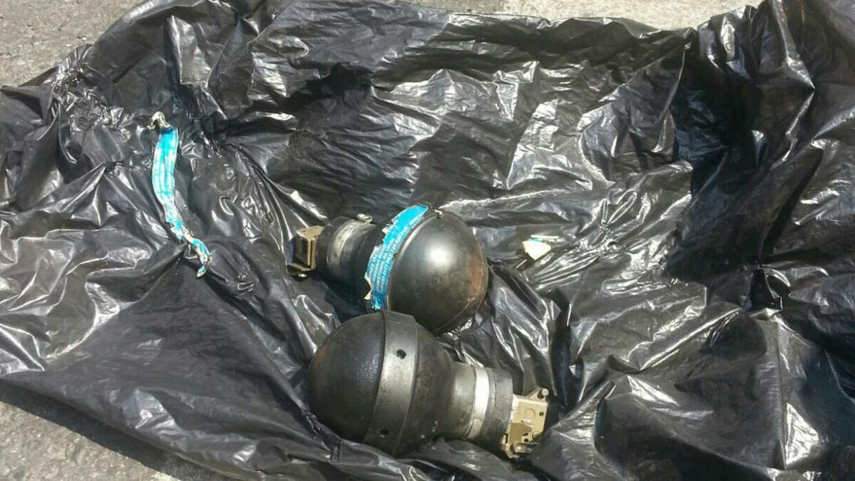 Bombas lacrimógenas que fueron lanzadas por la Policía Federal.