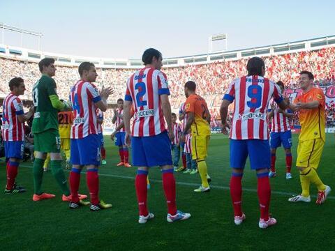 La Liga española vivió el tradicional pasillo que el equip...