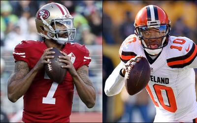 Colin Kaepernick & Robert Griffin III son opción para back up...