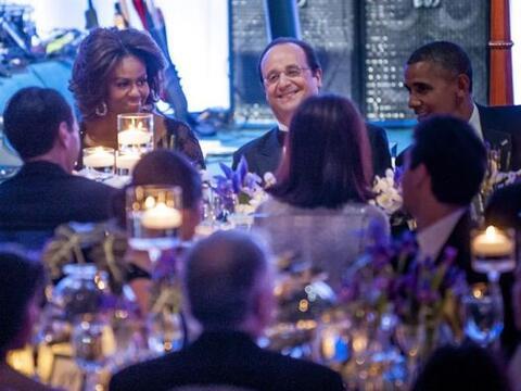 El presidente estadounidense, Barack Obama, su esposa Michelle, y el man...
