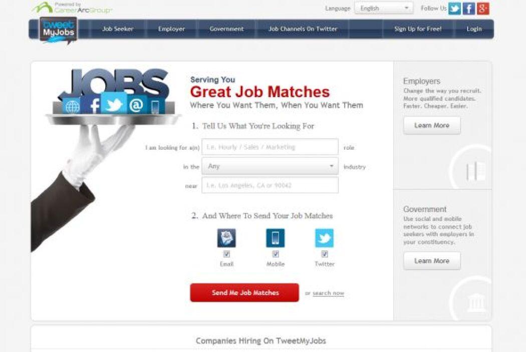 TweetMyJobs: es un sitio herramienta para encontrar alertas de trabajo e...