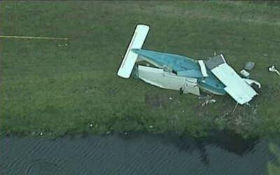 Accidente de avioneta en Miami deja tres heridos
