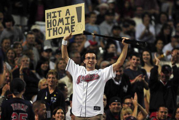 La afición de Cleveland quiere que Jim Thome siga volándose la barda en...
