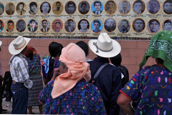 El pueblo índigena de Ribanal al norte de Guatemala, se inauguró un mura...