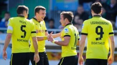 Borussia Dortmund le enseño las garras a Mourinho goleando al colista de...