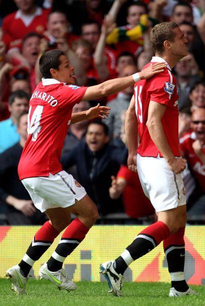 Ese gol de Vidic significó, a la postre, la victoria de los 'Red Devils'...