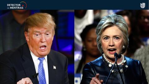 Trump fue exagerado y Clinton hizo generalizaciones sin sustento.