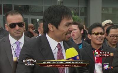 """Manny Pacquiao: """"Me preocupaban más Cotto y Margarito que Mayweather"""""""