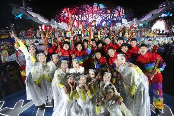 Artistas celebraron la llegada del Año Nuevo 2015 en el Parque Olímpico...