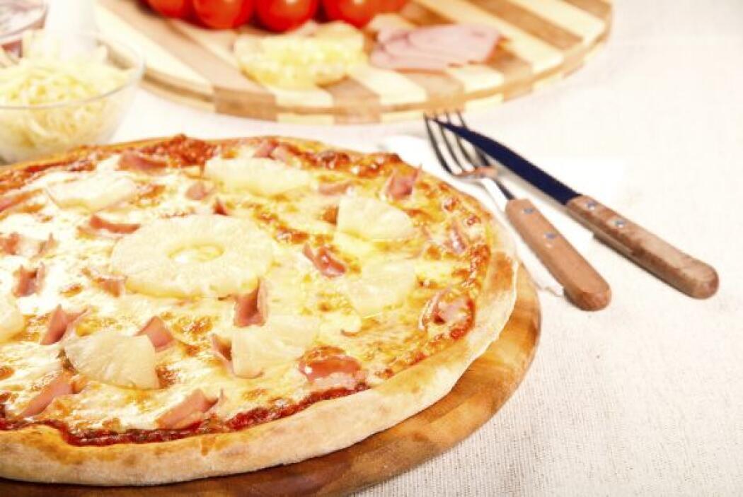 No podía faltar en esta selección la famosa pizza 'hawaiana'.