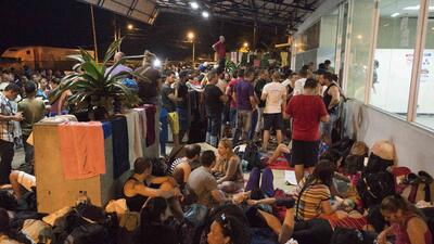 Cientos de cubanos esperan en Costa Rica a poder avanzar en su viaje hac...