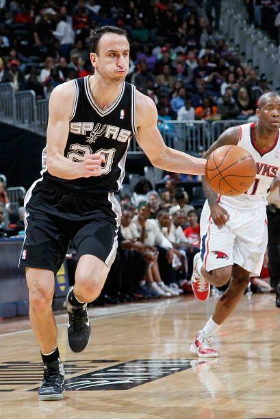 Manu Ginóbili de los Spurs de San Antonio. El argentino es el alma del e...