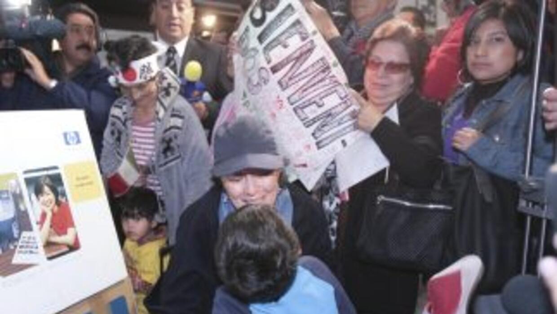 El grupo de 80 mexicanos que arribó a la Ciudad de México se encontraba...