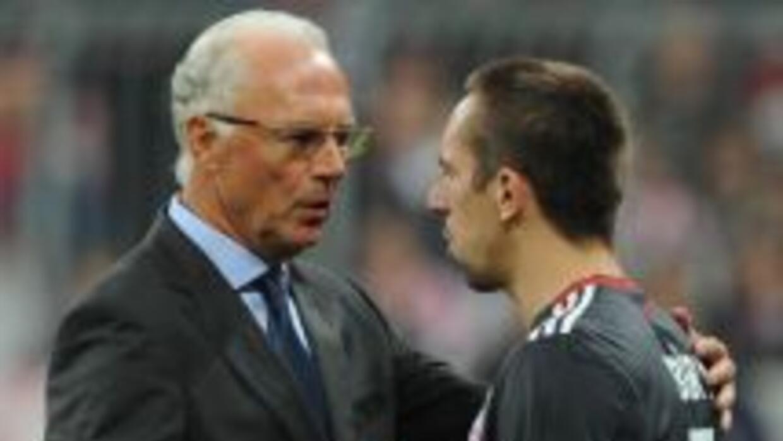 El alemán mostró su claro favoritismo por Ribery.