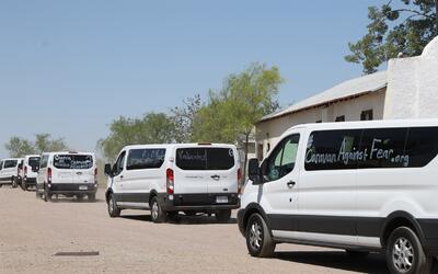 La caravana contra el miedo llegó a la frontera de Arizona