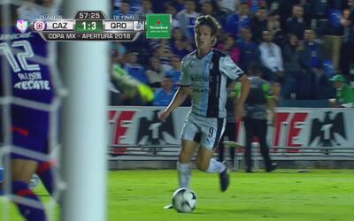 Nuevamente marca Carlos Fierro para Gallos que le gana 3-1 a Cruz Azul