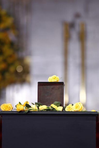Esta es la urna donde descansan los restos del escritor colombiano.