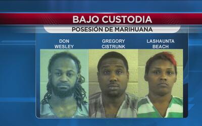 Ponen tras las rejas a tres hombres por posesión de 15 libras de marihuana