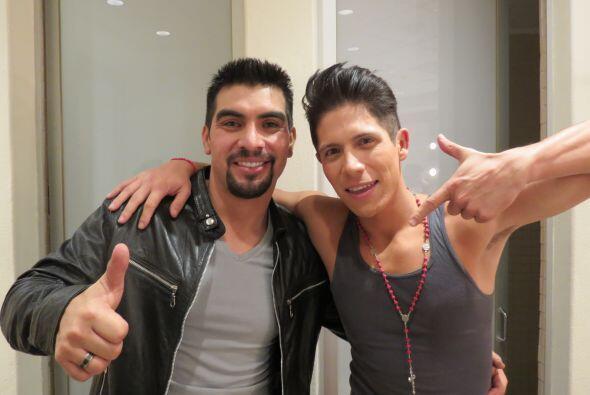 Fernando ahora con Enrique Tello antes de la cuarta gala.