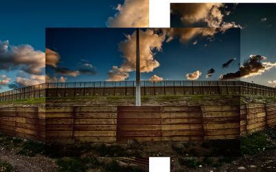 Muro doble cerca de San Diego, California, en inmediaciones del r&iacute...