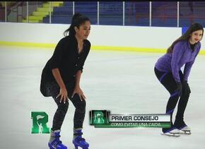 Natalíz nos muestra como lucir como un profesional sobre la pista de hielo