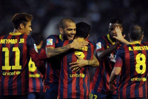 Ya con el 2-0, el Barcelona se fue al descanso encarrilando un nuevo tri...