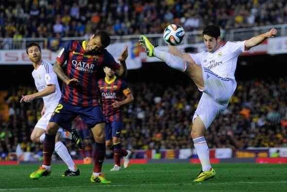 Isco, quien ha estado jugando por la lesión de Ronaldo tuvo un bu...