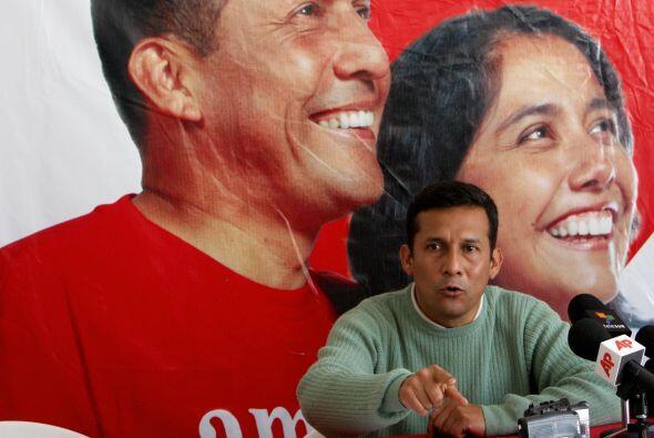Humala es el abanderado del partido Gana Perú.
