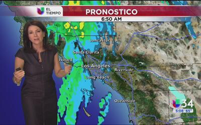 El sur de California tendrá un viernes lluvioso