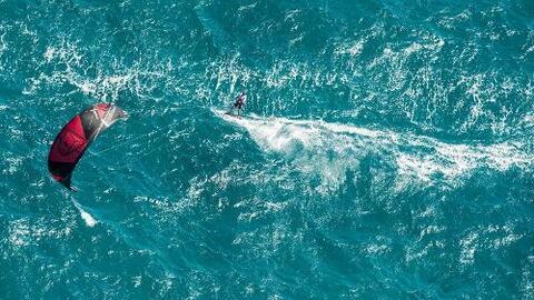 11 millas en kitesurf a mar abierto