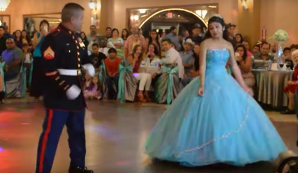 Leonardo Cortinas es un US Marine retirado, que intentó bailar con su hi...