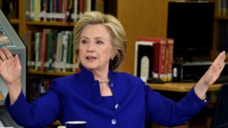 La ex secretaria de Estado Hillary Clinton.