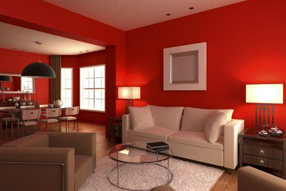 Un living divino. Si vas a pintar las paredes de tu living de rojo, aseg...