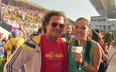 Carlos Vives 'vive' la emoción del Mundial de Brasil al máximo
