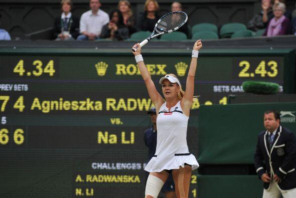 Radwaska es la cuarta favorita y ganó su pase a semifinal derrotando a l...