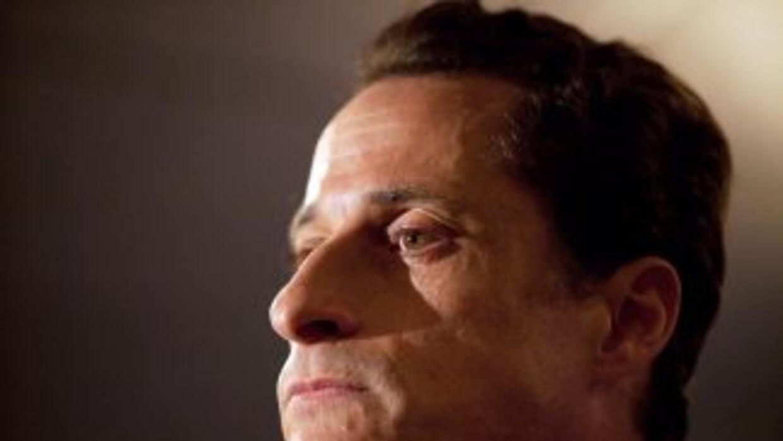 El representante Anthony Weiner, cuando reconoció en público que había e...