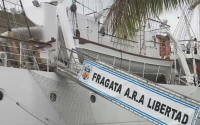 La Fragata Libertad llegó a Miami en conmemoración de la Semana Argentina