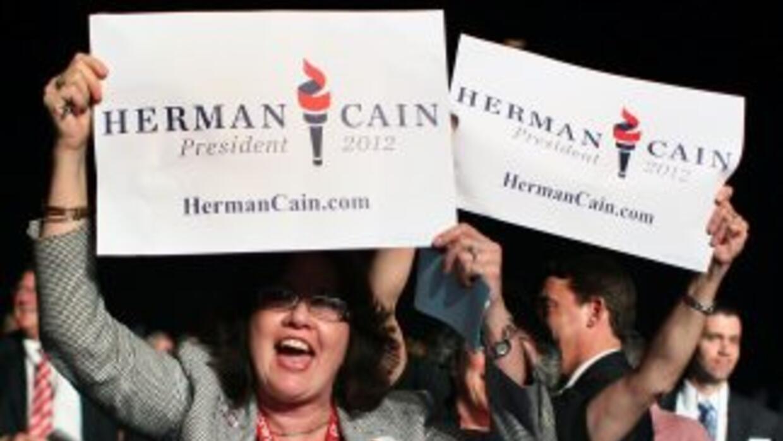 Herman Cain ganó un voto simbólico pero importante este mes en la conven...