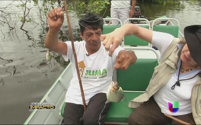 Aventura en el Amazonas para pescar pirañas