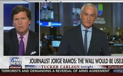 """Jorge Ramos: """"El muro no hará nada para detener el flujo migratorio"""""""