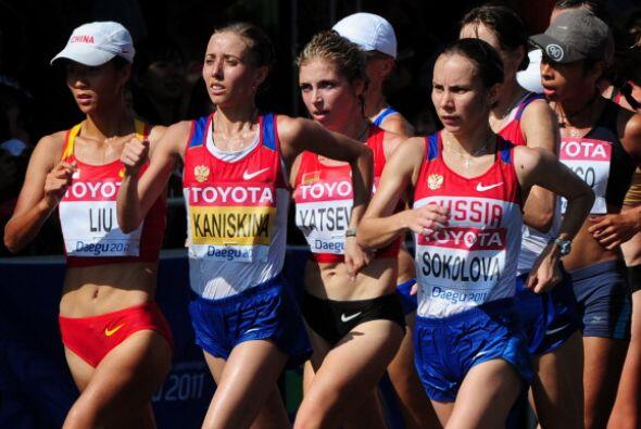 La rusa, que también es la vigente campeona olímpica y europea, entró en...