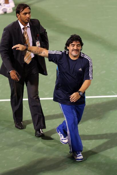 Maradona ya había asistido al triunfo de Del Potro en la segunda ronda d...
