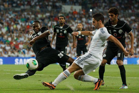 El partido terminó con triunfo por goleada del Real Madrid.