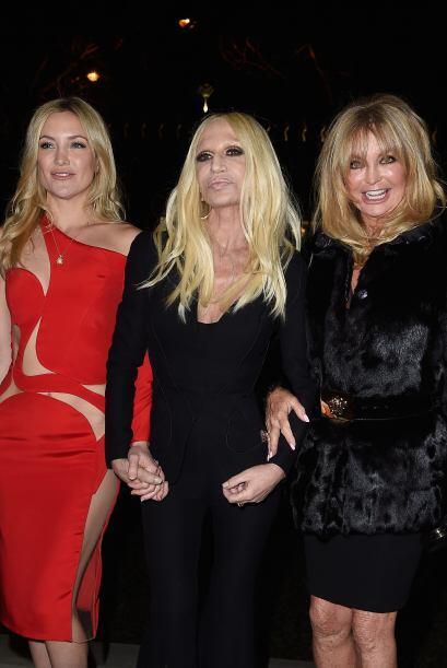 Donatella fue una excelente anfitriona y en todo momento estuvo con sus...