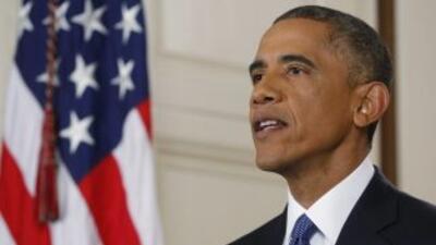 Presidente Barack Obama, durante su anuncio de acción ejecutiva en la Ca...