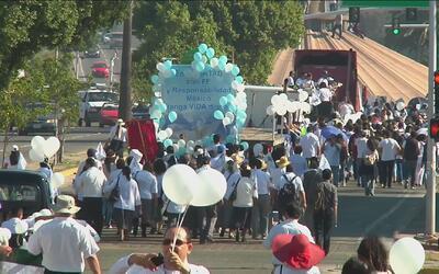 Iglesia católica convocó a una marcha en Tijuana, México para protestar...