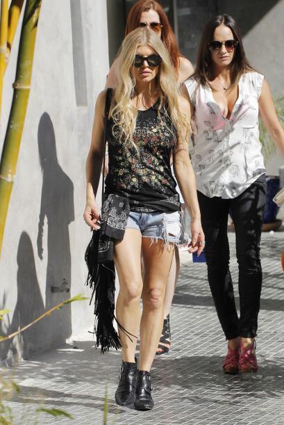 A pesar de los años, Fergie sigue firme a su estilo alocado y 'ro...