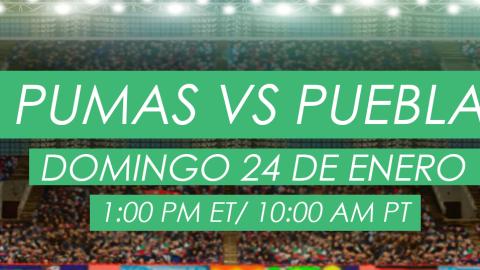 Pumas vs Puebla en vivo